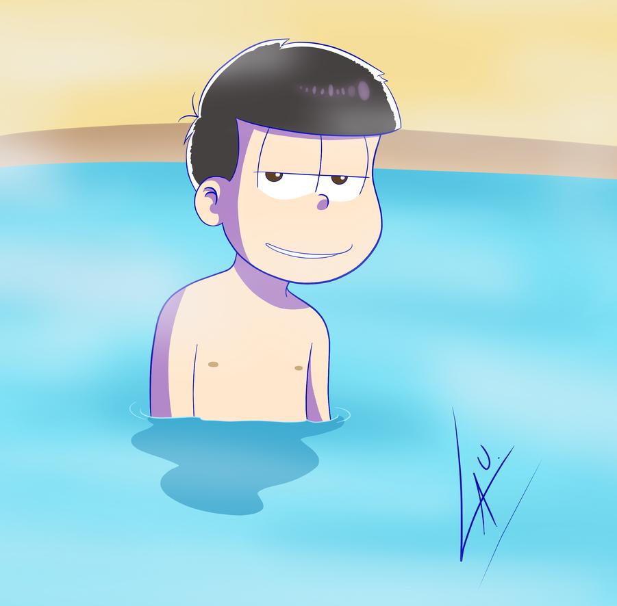 Ichimatsu having a shower 2.0 by kuki4982