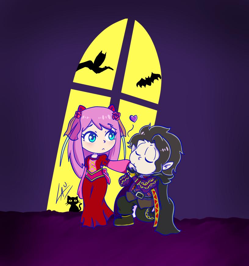 IchiNyaa Chibi Vampire AU by kuki4982