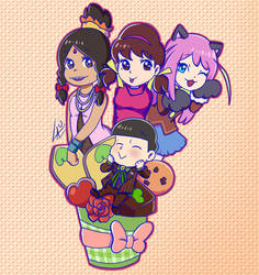 Choromatsu and his dreamed girls Valentine fanart