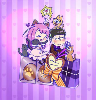 IchiNyaa Valentine Fanart by kuki4982