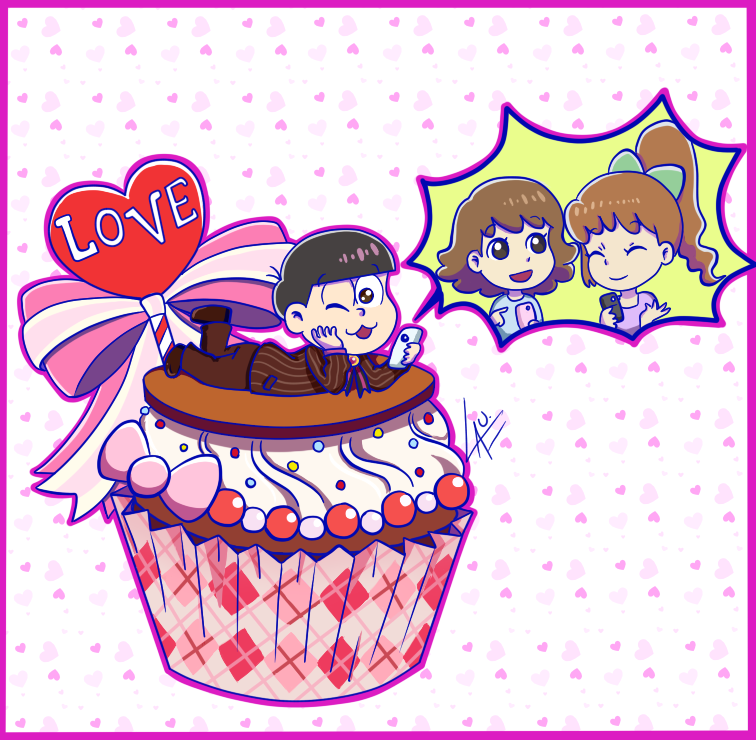 Todomatsu+Sutabaa Girls Valentine fanart by kuki4982