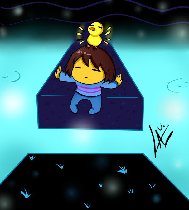 Undertale Bird that carries you over a disproporti by kuki4982
