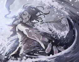 Sweet snow, salty sea by Hikari-Akagi