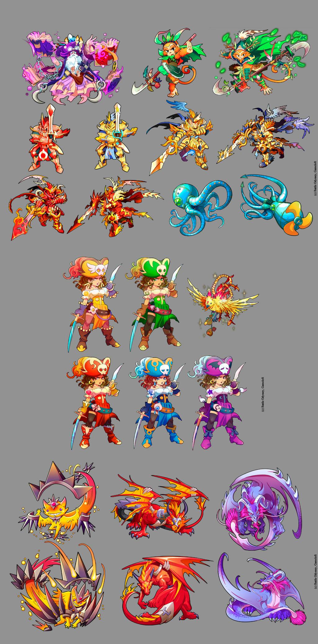 Battle Odyssey- some characters by Hikari-Akagi