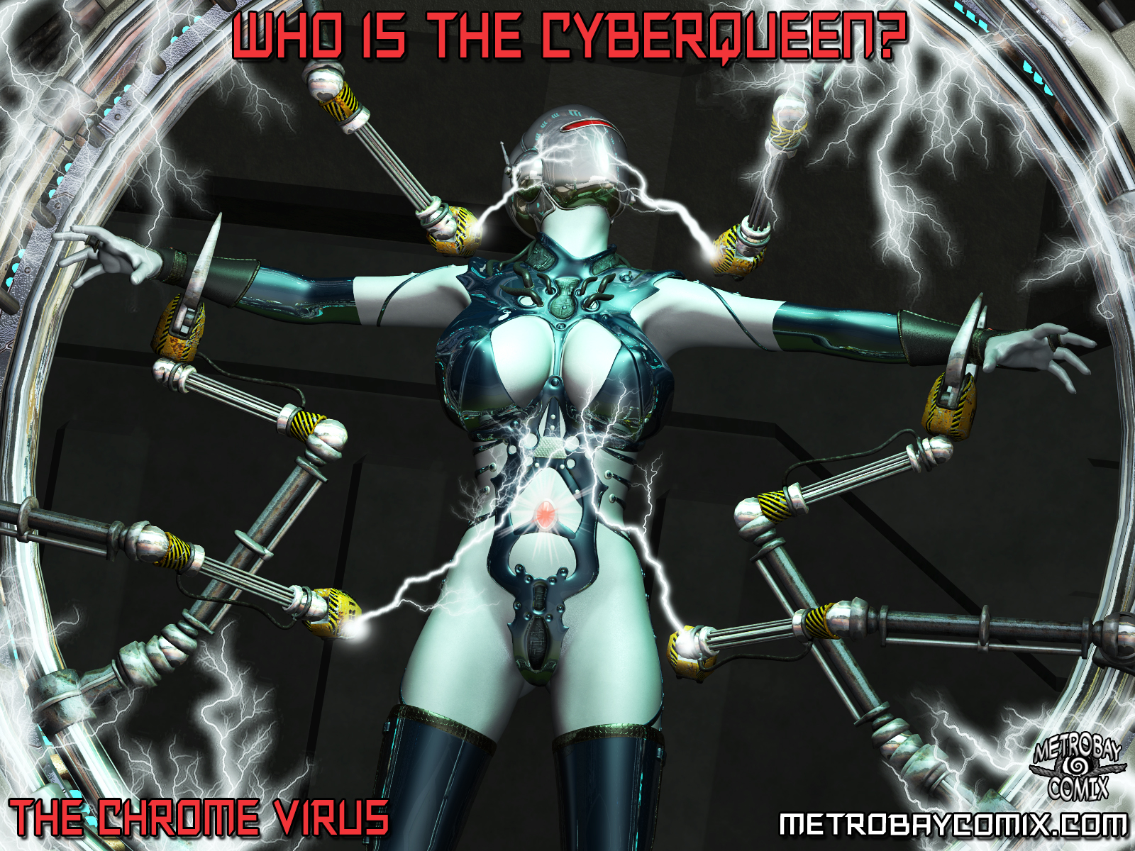 The Chrome Virus - CyberQueen promo by Doctor-Robo
