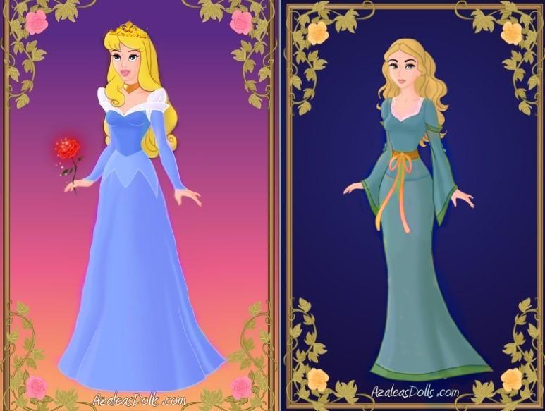 Aurora Sleeping Beauty Vs Aurora Maleficent By Akhillesy