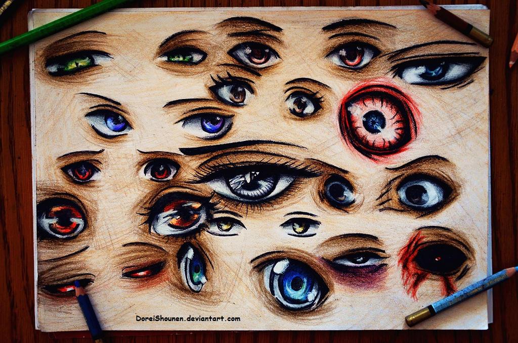 manga eyes practicing by DoreiShounen
