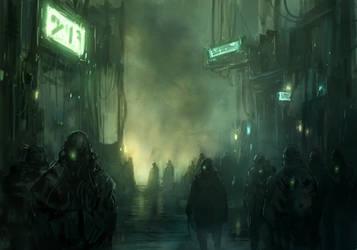 in a shadow of the cyberpunk _01 by DarkEnter