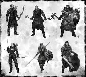 fantasy concept characters 01 by DarkEnter