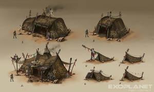 alien huts by DarkEnter
