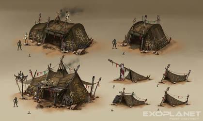 alien huts