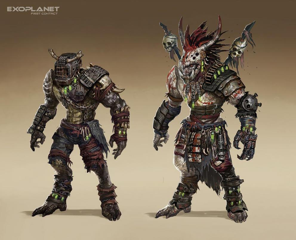 Aliens aborigines by DarkEnter
