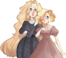 [comm] Dolores and Dolly | Present for Howlie-z by bad-vibes-iva