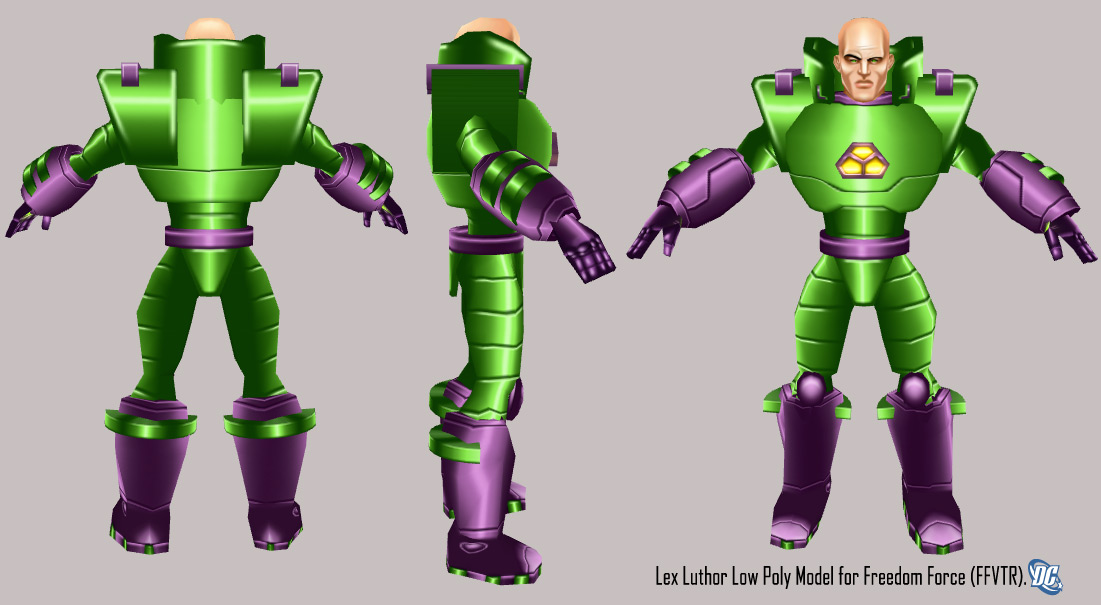 Third Low Poly Art Pubg: Lex Luthor Low Poly 3D Model By IUltrahumanite On DeviantArt