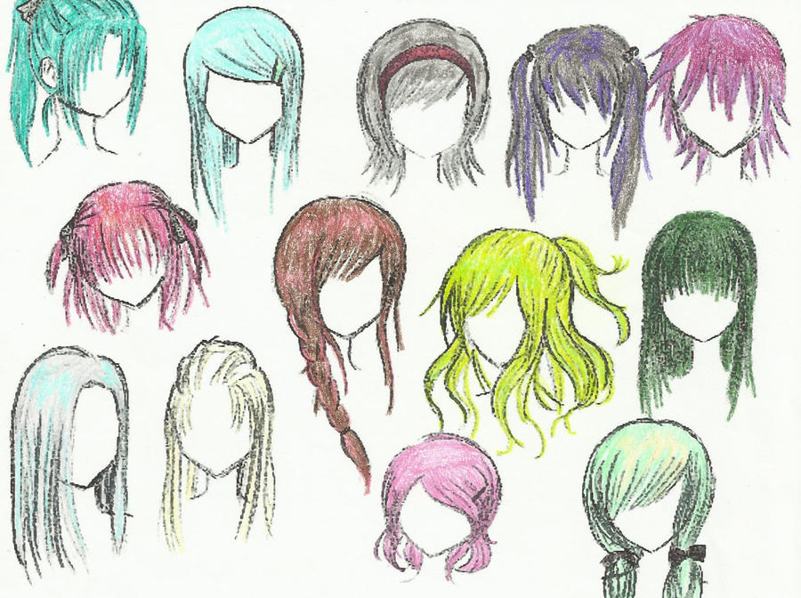 Anime Hair By Mustangchild On Deviantart