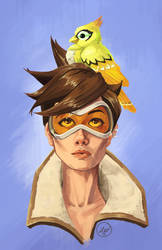 Tracer and Ganymede by LaurenWalsh