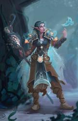 Favored by Elune - Night Elf Druid by LaurenWalsh