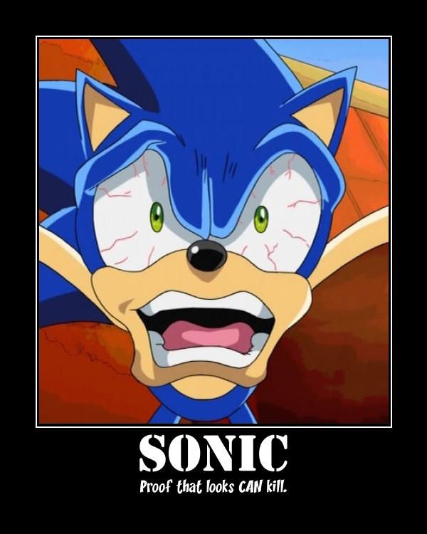 Sonic scary stare by sakuraodd on deviantart