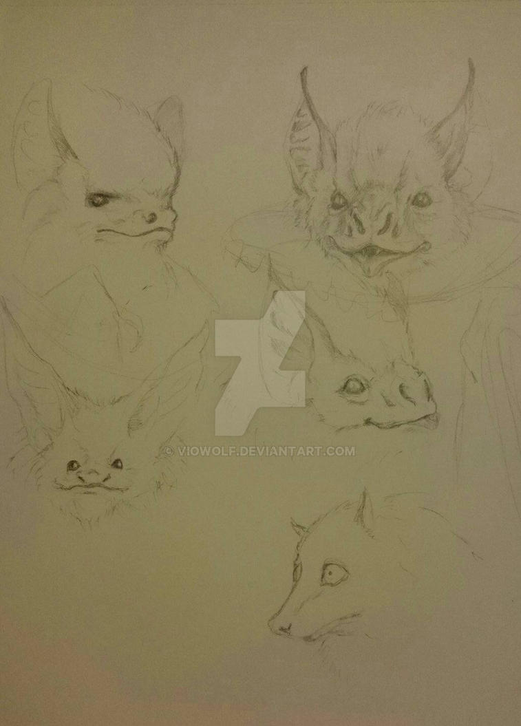 bat faces by VioWolf