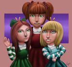 Adamsapple Sisters by EbonyCG