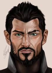 Adam Jensen by EbonyCG