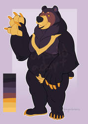 Golden Sun Bear (open) by ghostcap