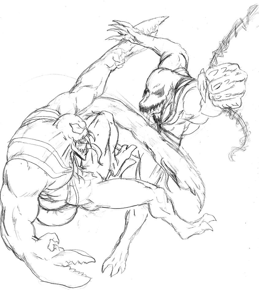 Anti Venom Coloring Coloring Pages