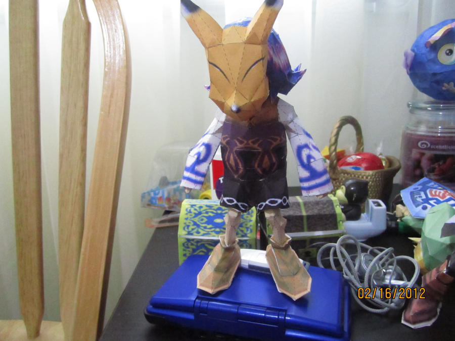 Kafei with Keaton mask papercraft by Odolwa5432