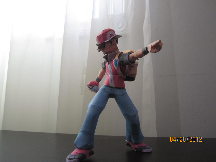 Pokemon Trainer Red Papercraft by Odolwa5432