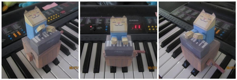 Keyboard Cat Papercraft! Meow. by Odolwa5432
