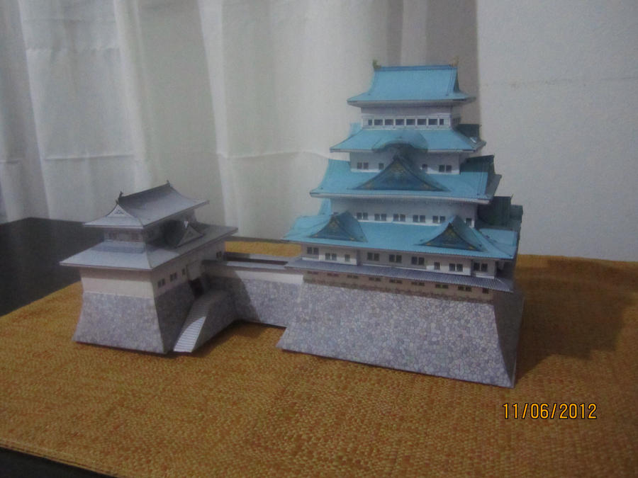 Nagoya Castle Papercraft by Odolwa5432