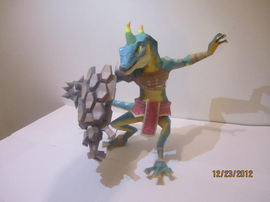 Skyward Sword Lizalfos Papercraft by Odolwa5432