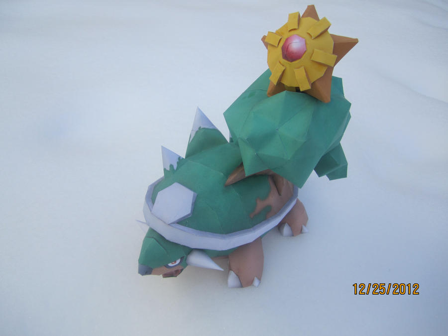 Torterra Papercraft Christmas Special by Odolwa5432