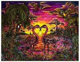 Lovebirds by bundleofblues