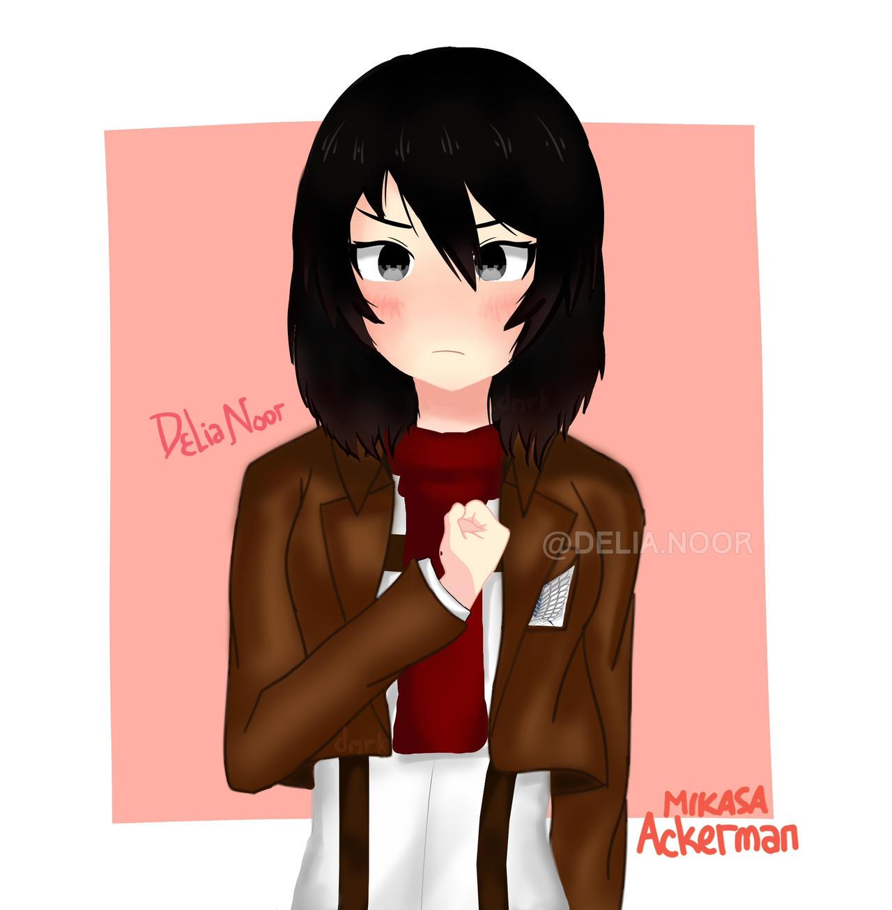 Mikasa Ackerman Snk Fanart By Deliasunshiners On Deviantart