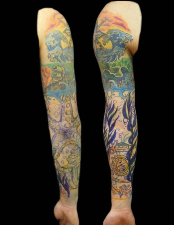 underwater sleeve - sleeve tattoo