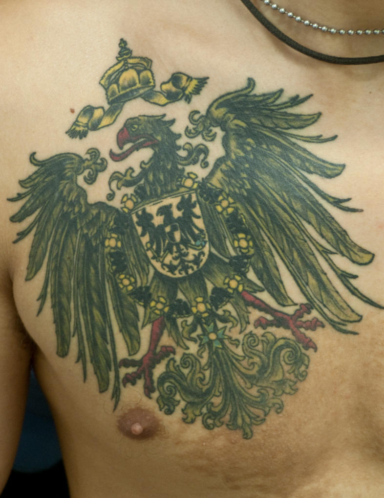 German imperial eagle tattoo - photo#2