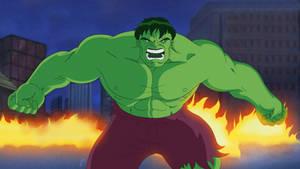 The Incredible Hulk on HULK ANIMATED SERIES Style