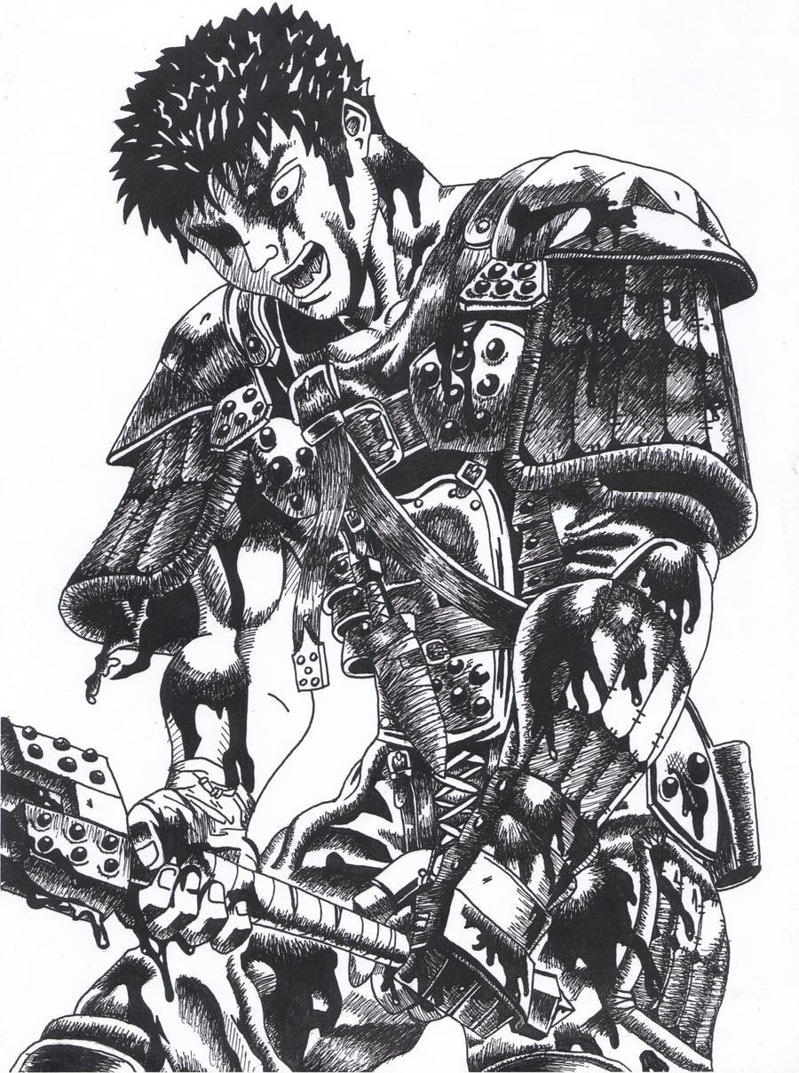 Gatsu Guts Berserk by LalyKiasca