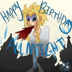 Happy Birthday All Might! by SpectralDreamer