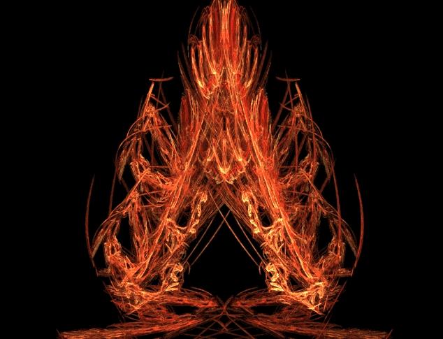 Burning Spade by wolf3fenrir
