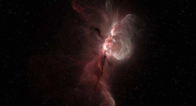 Free Use Space Background: Pink Nebula