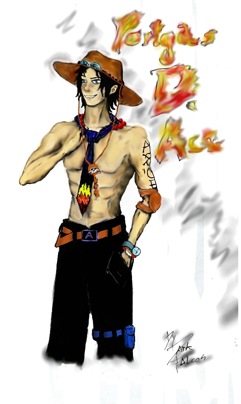 Portgas D. Ace by DarkFalcon-Z