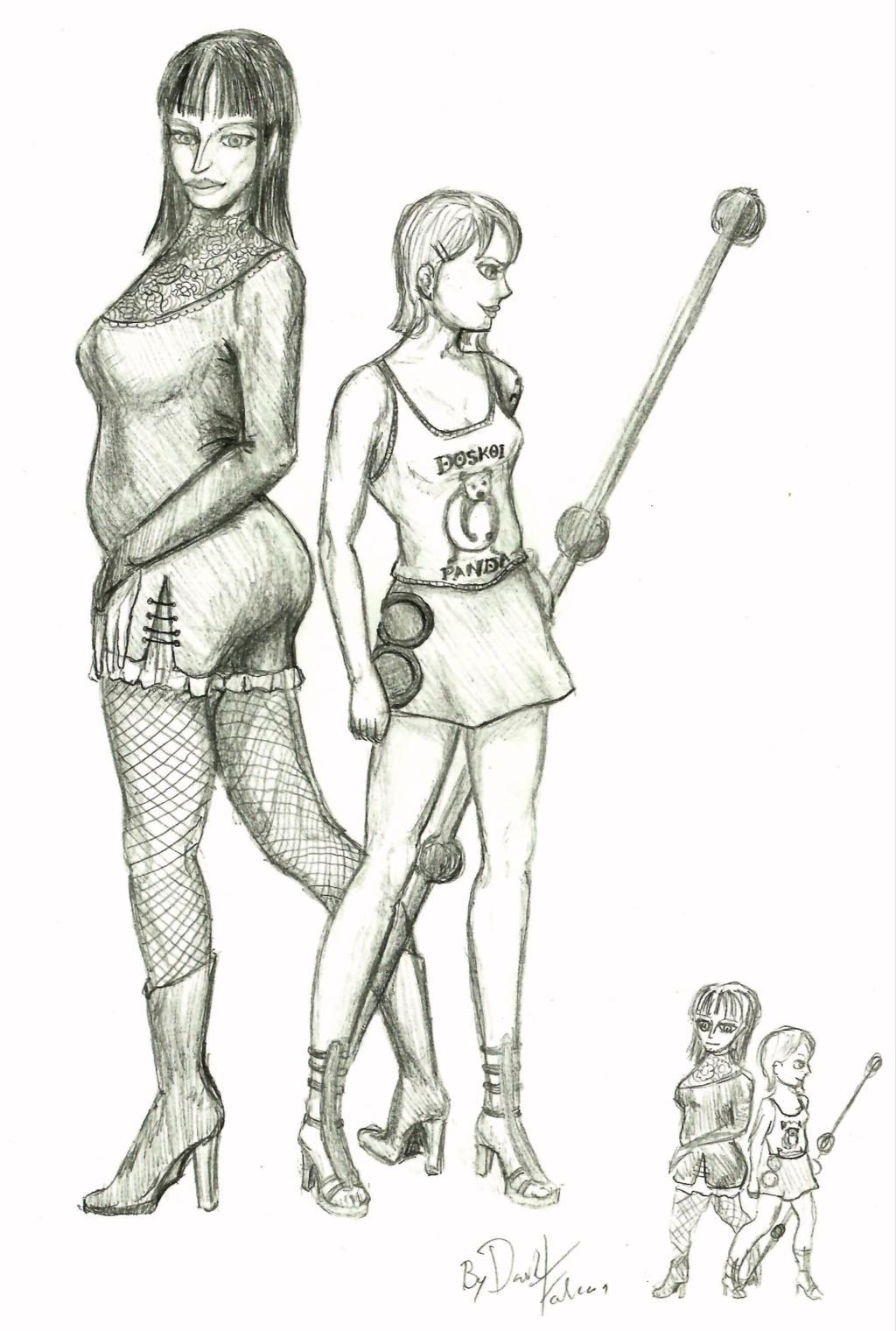 Nami and Robin by DarkFalcon-Z