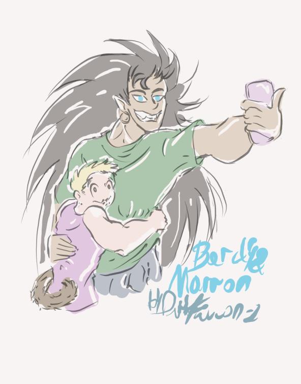Bardy and Marron by DarkFalcon-Z