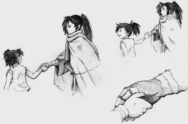Dororo and Hyakkimaru by DarkFalcon-Z