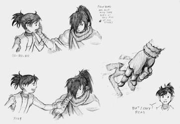 Dororo and Hyakkimaru 2 by DarkFalcon-Z