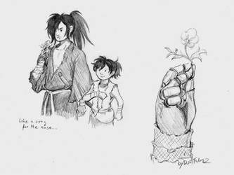 Dororo and Hyakkimaru 3 by DarkFalcon-Z