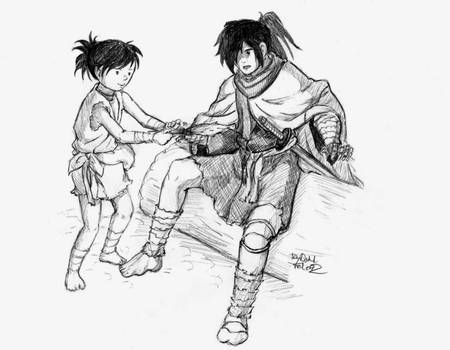 Dororo and Hyakkimaru 5 by DarkFalcon-Z