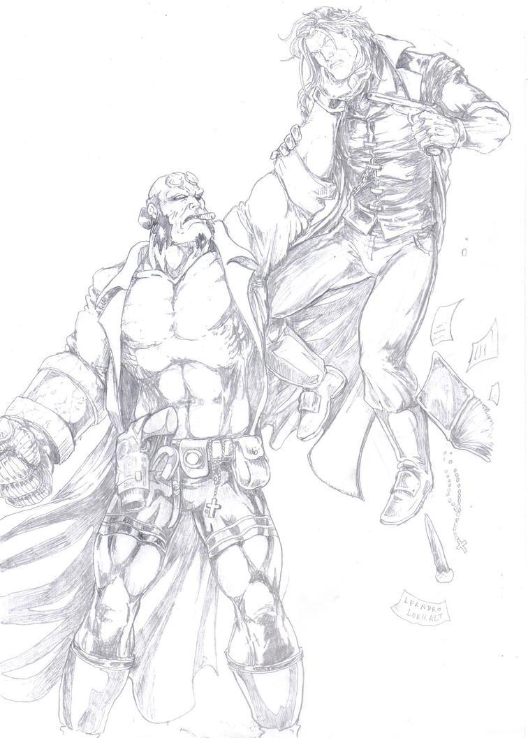 Hellboy vs Van Helsing by lorkalt on deviantART